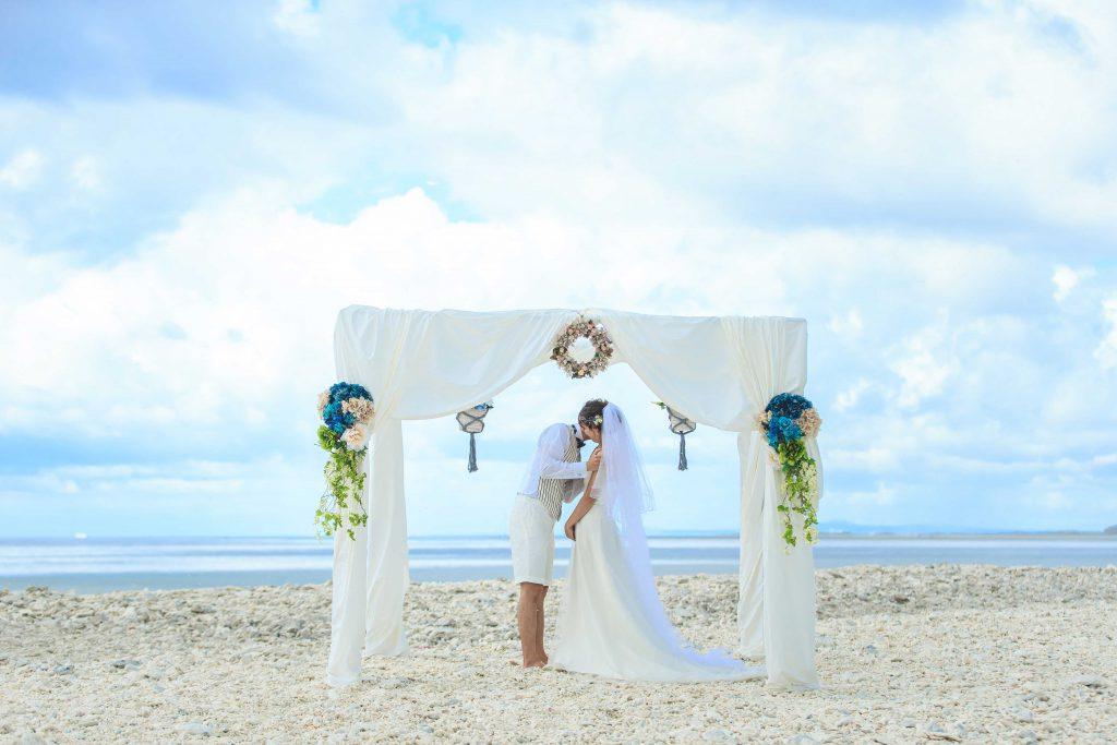 クエフ島でガゼボ挙式