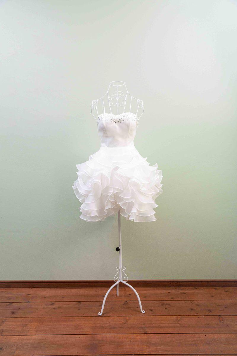 ミニ丈ドレス