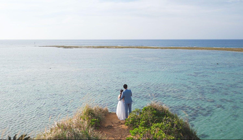 沖縄でリゾートウェディングイメージ